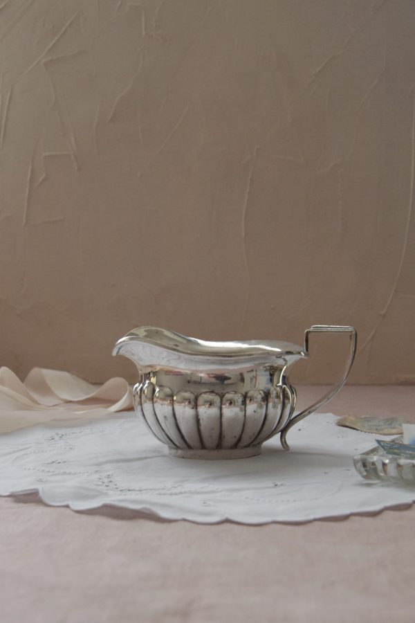 SILVER PLATED MILK / GRAVY JUG - Fine Art Design Studio