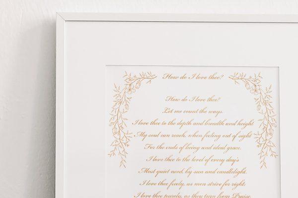 Bespoke Calligraphy Poem or Letter - Fine Art Design Studio